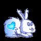 ♥ Glace bleutée